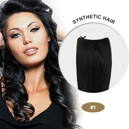"COCO Synthetic Secret Hair 20"" Wavy Jet Black(#1)"