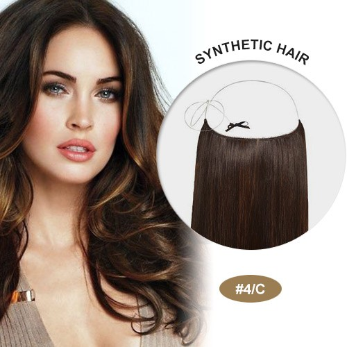 """COCO Synthetic Secret Hair 16"""" Brown Highlight(#4/C)"""