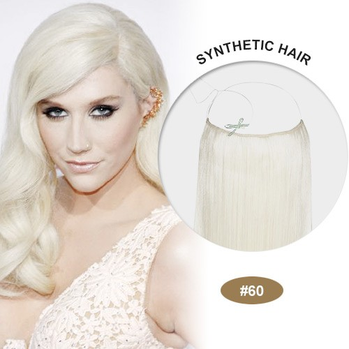 """COCO Synthetic Secret Hair 16"""" White Blonde(#60)"""