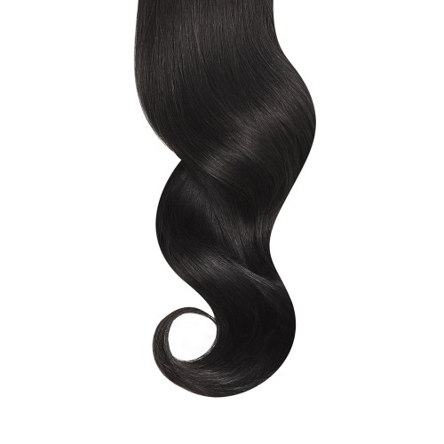 "16"" Natural Black(#1b) 7pcs Clip In Remy Human Hair Extensions"