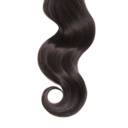 "18"" Dark Brown(#2) 7pcs Clip In Remy Human Hair Extensions"