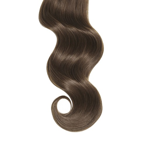 """18"""" Medium Brown(#4) 7pcs Clip In Remy Human Hair Extensions"""