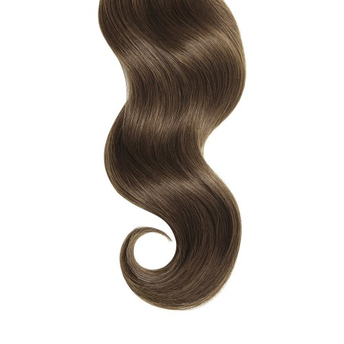 "26"" Ash Brown(#8) 7pcs Clip In Human Hair Extensions"