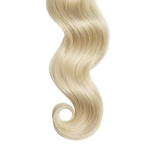 """16"""" Ash Blonde(#24) 7pcs Clip In Human Hair Extensions"""