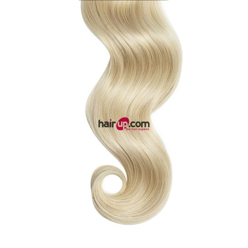 """26"""" Ash Blonde(#24) 7pcs Clip In Human Hair Extensions"""