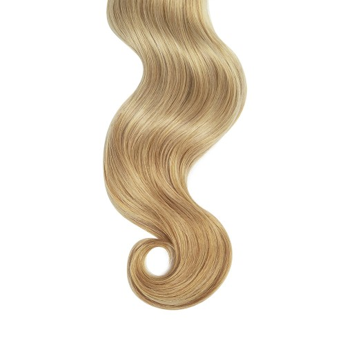 """18"""" Strawberry Blonde(#27) 7pcs Clip In Remy Human Hair Extensions"""