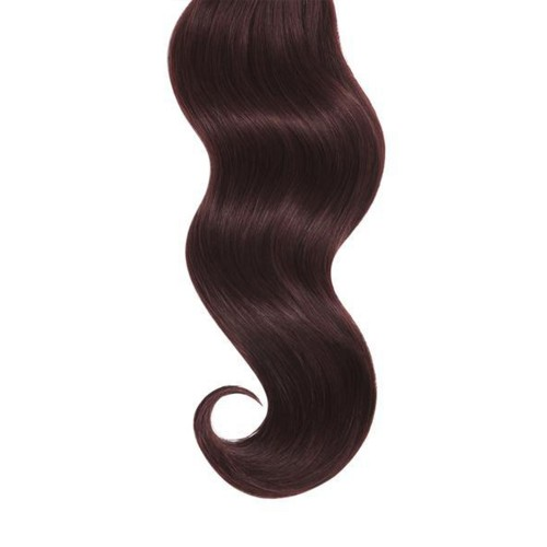 "16"" Dark Auburn(#33) 7pcs Clip In Remy Human Hair Extensions"