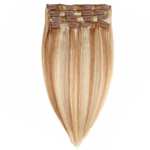 """26"""" #12/613 7pcs Clip In Remy Human Hair Extensions"""
