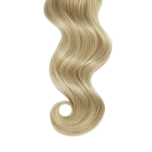 """22"""" Blonde Highlight(#18/613) 7pcs Clip In Remy Human Hair Extensions"""