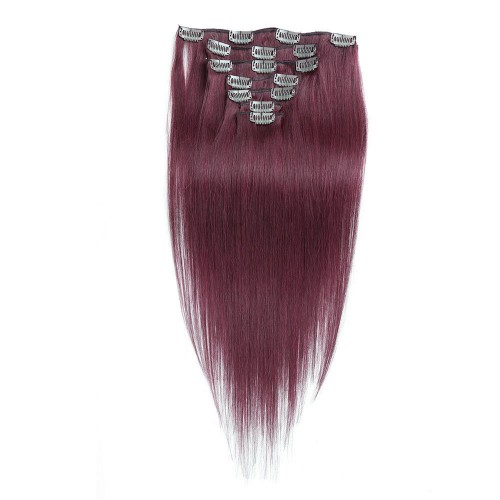 "24"" Bug 7pcs Clip In Human Hair Extensions"