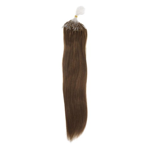 "14"" Ash Brown(#8) 100S Micro Loop Remy Human Hair Extensions"