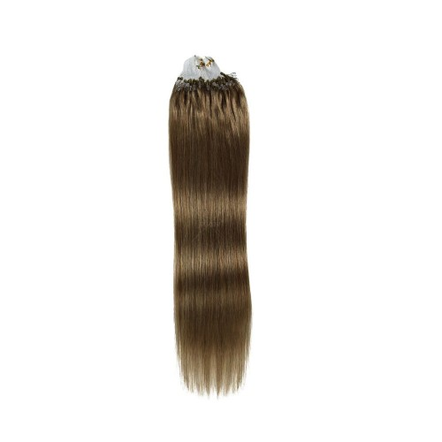 """20"""" Golden Brown(#12) 100S Micro Loop Remy Human Hair Extensions"""