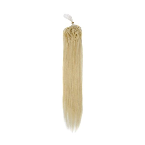 "24"" Ash Blonde(#24) 100S Micro Loop Remy Human Hair Extensions"