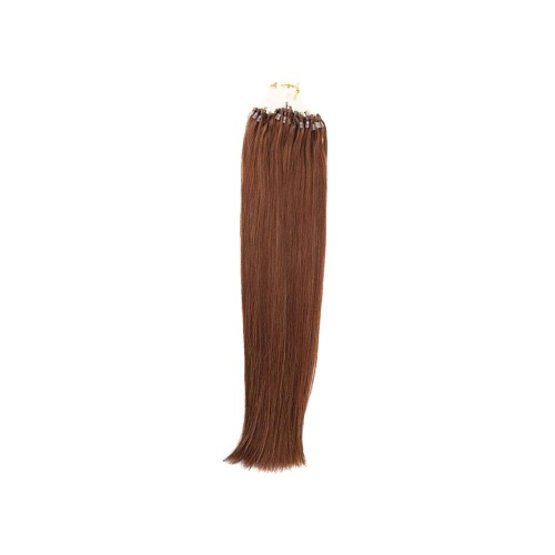 "22"" Dark Auburn(#33) 100S Micro Loop Remy Human Hair Extensions"
