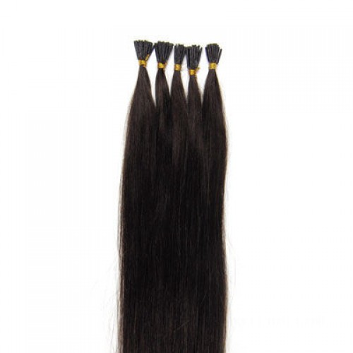 "24"" Dark Brown(#2) 100S Stick Tip Remy Human Hair Extensions"
