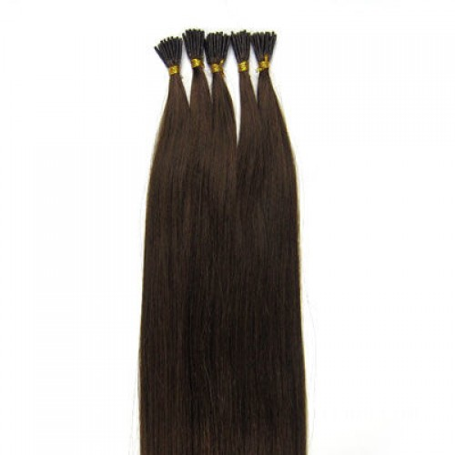 "26"" Medium Brown(#4) 100S Stick Tip Remy Human Hair Extensions"