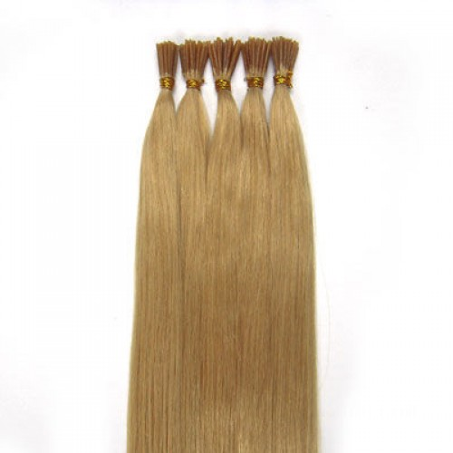 "14"" Ash Blonde(#24) 100S Stick Tip Human Hair Extensions"