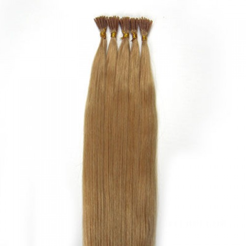 """18"""" Strawberry Blonde(#27) 100S Stick Tip Remy Human Hair Extensions"""