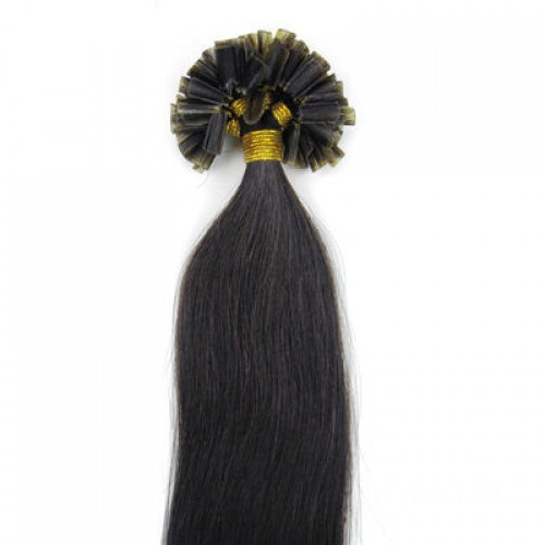"26"" Natural Black(#1b) 100S Nail Tip Remy Human Hair Extensions"
