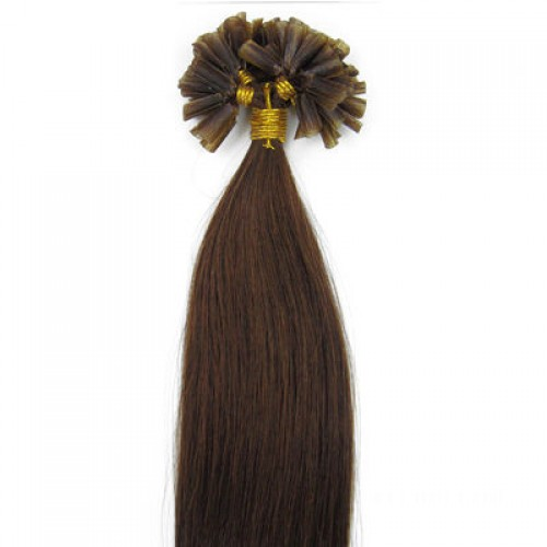 "26"" Medium Brown(#4) 100S Nail Tip Remy Human Hair Extensions"