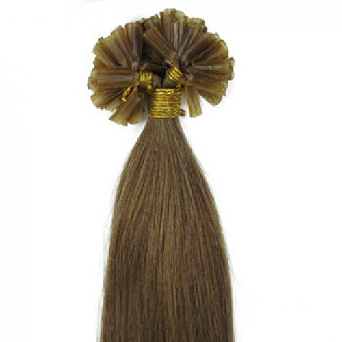 "14"" Light Brown(#6) 100S Nail Tip Human Hair Extensions"