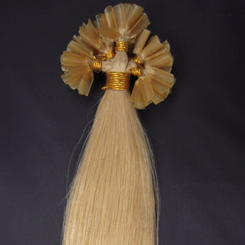 """22"""" Ash Blonde(#24) 100S Nail Tip Remy Human Hair Extensions"""