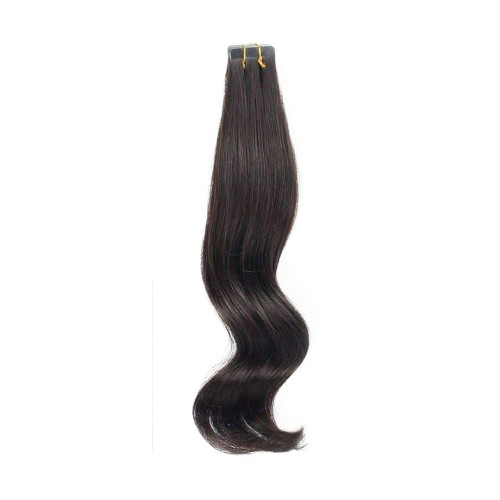 "18"" Natural Black(#1b) 20pcs Tape In Human Hair Extensions"