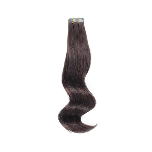 "16"" Jet Black(#1) 20pcs Tape In Remy Human Hair Extensions"