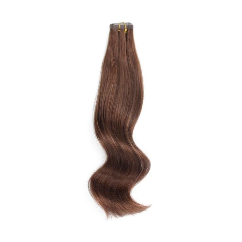 "26"" Medium Brown(#4) 20pcs Tape In Human Hair Extensions"