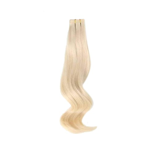 "14"" White Blonde(#60) 20pcs Tape In Human Hair Extensions"