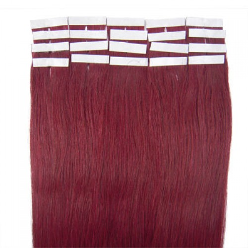 "20"" Bug 20pcs Tape In Human Hair Extensions"