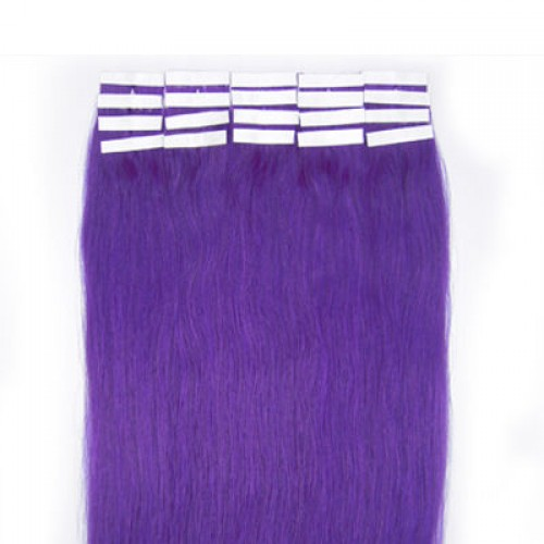 "24"" Lila 20pcs Tape In Human Hair Extensions"
