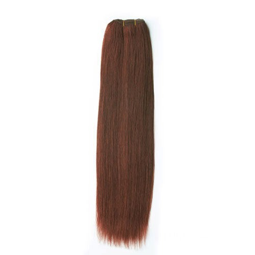 "16"" Dark Auburn(#33) Light Yaki Indian Remy Hair Wefts"