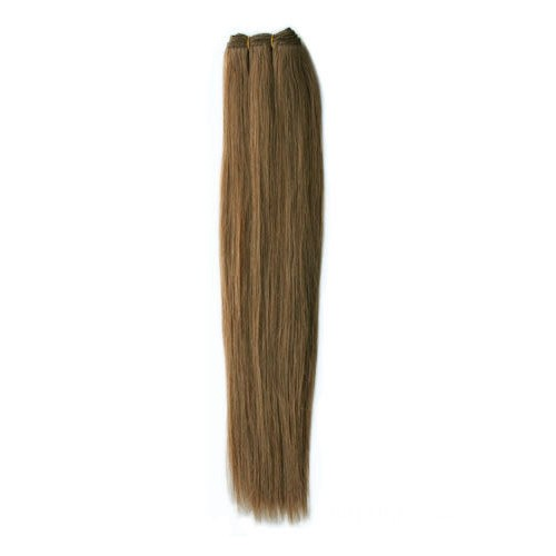 """14"""" Ash Brown(#8) Straight Indian Remy Hair Wefts"""