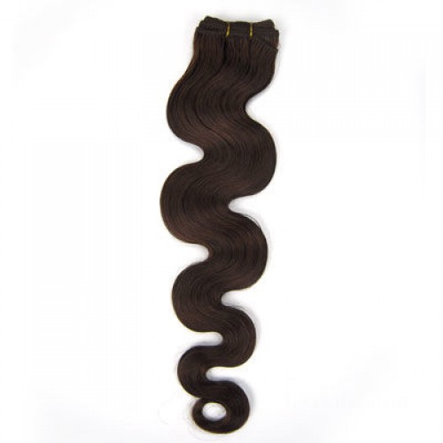 "14"" Medium Brown(#4) Body Wave Indian Remy Hair Wefts"