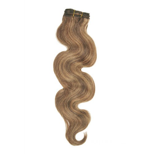 "16"" Brown/Blonde(#4/27) Body Wave Indian Remy Hair Wefts"