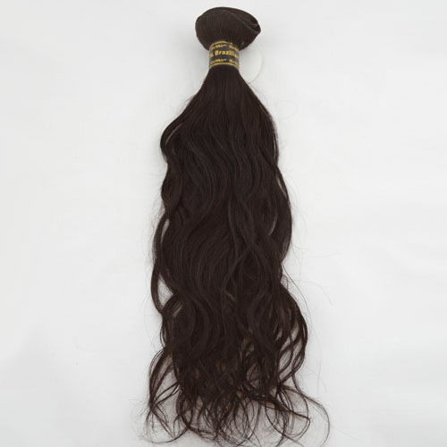 "16"" Medium Brown(#4) Natural Wave Indian Remy Hair Wefts"