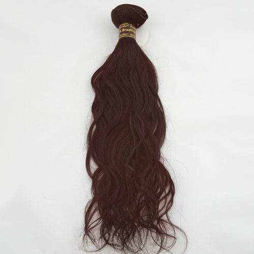 "12"" Dark Auburn(#33) Natural Wave Indian Remy Hair Wefts"