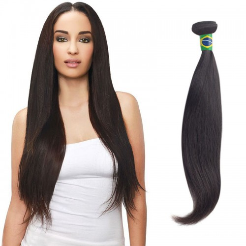 14 Inches Straight Natural Black Virgin Brazilian Hair