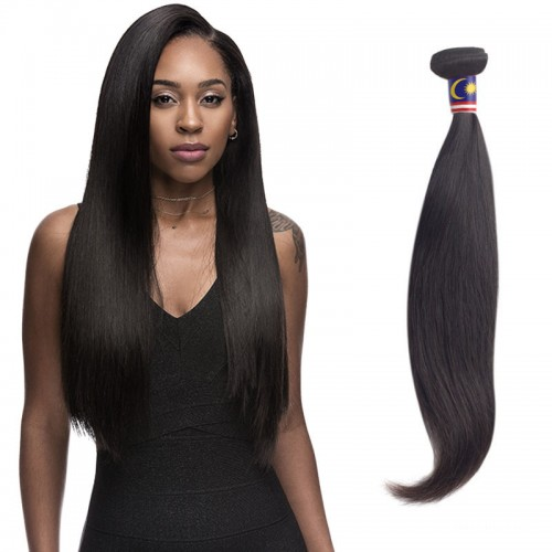 14 Inches Straight Natural Black Virgin Malaysian Hair