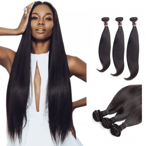 10/12/14 Inches Straight Natural Black Virgin Malaysian Hair