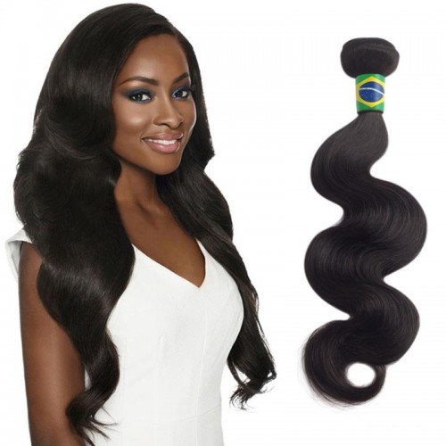 16 Inches Body Wave Natural Black Virgin Brazilian Hair