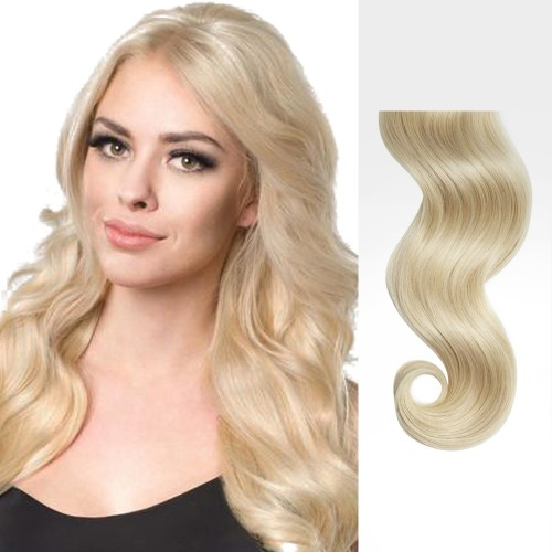 """22"""" Ash Blonde(#24) 7pcs Clip In Remy Human Hair Extensions"""