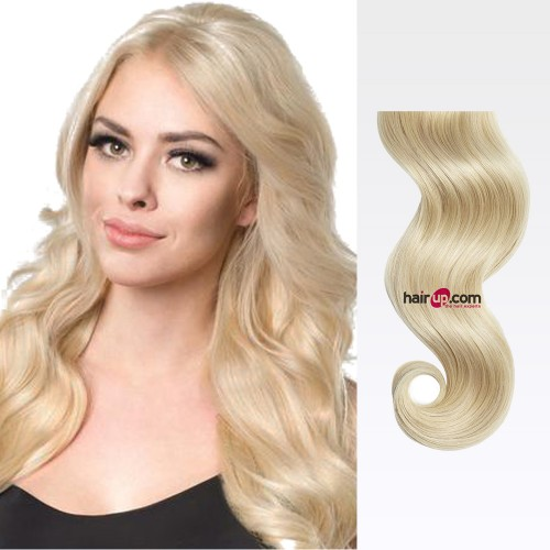 "14"" Ash Blonde(#24) 7pcs Clip In Synthetic Hair Extensions"
