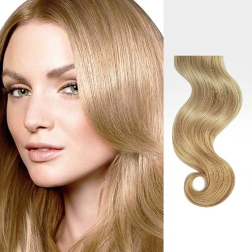 """22"""" Strawberry Blonde(#27) 7pcs Clip In Human Hair Extensions"""
