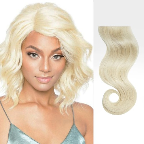 "26"" White Blonde(#60) 7pcs Clip In Human Hair Extensions"