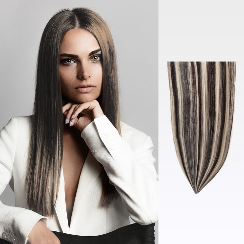 """20"""" #1b/613 7pcs Clip In Remy Human Hair Extensions"""